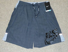 "Nike sz S 7"" Two-In-One Men's Running Shorts New $58 519702 061 Grey"