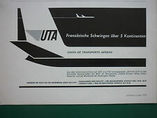 12/1964 PUB COMPAGNIE UTA UAT TAI TRANSPORT AERIEN AIRLINE GERMAN AD