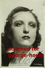 MARIE BELL - PHOTO - VTG - STUDIO LORELLE - SIGNED - LEGION OF HONOR - DE GAULLE
