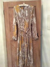 Size 16 Per Una beige/cream/mustard dress with long sleeves