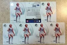 Larry Bird Indiana State Sycamores Super Star 7cd Lot 2010 SP Authentic