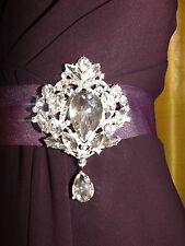 Diamante rhinestone brooch,bridal,bridesmaid,evening,prom (226)