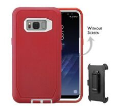 HLC Case for Samsung Galaxy S8 Heavy Duty Shock Reduction Bumper Case Red