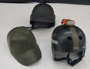 "3 EACH 1/6 SCALE Misc. Helmets-Hat for 21st Century GI JOE 12"" ACTION FIGURE!"