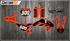 KTM 2000-2018 SXF SX XC EXC Graphics Kit - Fluorescent Flo Orange 125-450