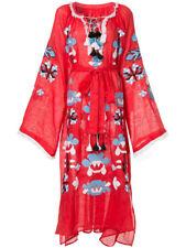 Embroidered boho style red dress - ukrainian folk ethnic vyshyvanka. All sizes