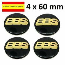 4x Bbs Negro//Plata Aleación Centro De Rueda Caps calcomanía emblema de logotipo e insignia 3D 68mm Reino Unido
