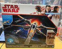 Star Wars Poe's Boosted X-Wing Fighter Force Link With Figure Hasbro NIB