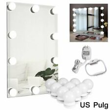 10 Dimmable Bulbs LED Vanity Hollywood Style Dressing Up Makeup Mirror Light Kit