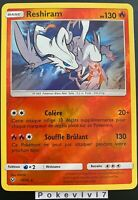 Carte Pokemon RESHIRAM 14/73 HOLO Reverse Soleil et Lune 3,5 SL3.5 FR NEUF