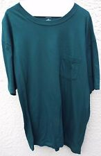 Stafford Men's Green Short Sleeve T-Shirt With Front Pocket Size L Classic Fit