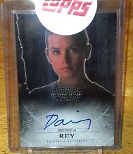 2015 - Topps Star Wars The Force Awakens SERIES 1 Auto - Daisy Ridley
