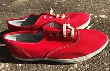 c8abc07f1a7 1960`s NOS Sears Jeepers Red Canvas Athletic Women`s Shoes Size 7 XW