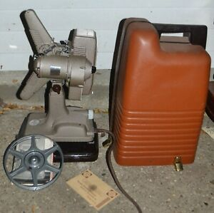 Revere Model 48 Vintage 16mm Film Projector With Original Case,Cord and Manual
