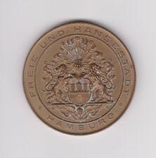 1914 Deutschland Hamburg Medaille Zur 100 Jahrfeier der Hamburger Polizeibehörde