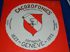 LP CACOZOFONIES textes PIANO section zofingue GENEVE jean georges MALLET barde