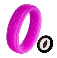 Silicone Wedding Ring Band for Women - Air Flow Glow Rubber Rings Bands by KUSI