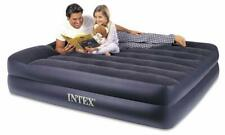 Deluxe Inflatable Air Bed Mattresses Built-in Pillow & Electric Pump Queen Bed