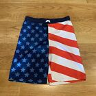 CHEROKEE American Flag 4th of July USA Patriotic Swim Suit Trunks Boys Size XL