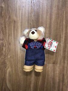 Vintage Wendys Fast Food Farrell Furskin Bear Plush Stuffed Toy 1986