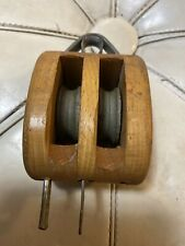 ANJA brand made in NORWAY Wood Pulley Block