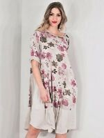 LAGENLOOK LMT Gorgeous Blossom Cotton Summer Dress UK 10 12 14 New