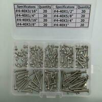 #4-40 Stainless Steel Hex Socket Button Head Screws Assortment Kit 160 pcs