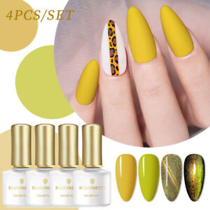 BORN PRETTY 4 Pcs/set Colorful Nail Gel Magnetic Polish Soak Off Gel Polish