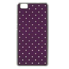 Coque rigide aspect diamants fond violet pour Ascend P8-Lite