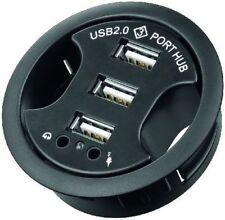 3 puerto USB HUB mini 2.0 como instalación hembra con 2x audio puerto 60mm