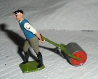 "Vintage Britains Lead ""Man With Garden Roller"" Very Near Mint Cond. Free Ship"