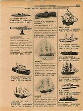 1961 ADVERT Revell Model Ships Boats USS Arizona Bounty Cutty Sark Army Tank