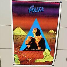 VINTAGE RARE 1983 THE POLICE #803 BLACK LIGHT FLOCKED FUNKY ENTERPRISE AD POSTER