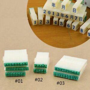 Buchstaben Zeichen Zahlen Stempel Prägen Basteln DIY Handgemacht Dekor