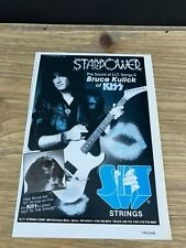 "1990 VINTAGE 5.25X7.5"" PRINT AD FOR SIT S.I.T. GUITAR STRINGS KISS BRUCE KULICK"