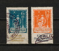 (YYAX 125) Germany 1922 USED Mich 233 - 234 Scott B3 - B4 Semi Planting Charity