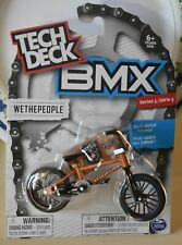 TECH DECK BMX  WETHEPEOPLE  SERIES 5 BNIP  GOLD BIKE AND BLACK TYRES
