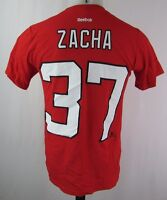 New Jersey Devils Men's Small #37 'Zacha' Player T-Shirt NHL Reebok Red