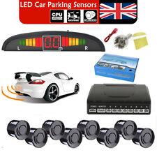Front Rear LED Display Car Reverse Parking 8 Sensors Buzzer Alarm Aid Kit Black