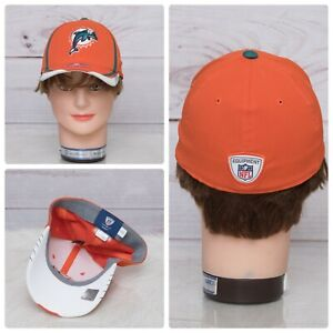 Miami Dolphins Reebok NFL OnField Orange YOUTH Baseball Fitted Cap EUC Boys Girl