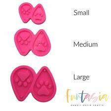 Dog Paw Shiny Teardrop Earring Mold, Silicone Mold for Epoxy Resin Crafts
