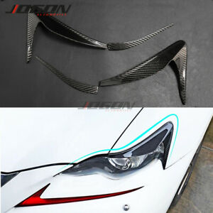 Real Carbon Headlight Eyebrow Eyelid Cover Trim For Lexus IS 250 300 IS350 13-16