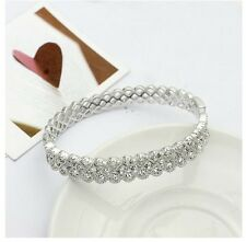 18k white gold gf made with SWAROVSKI crystal bangle bracelet