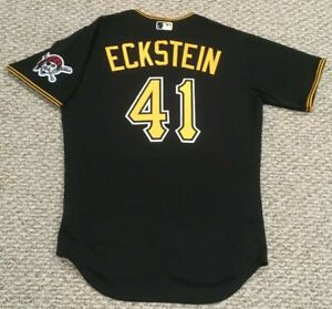 ECKSTEIN size 42 #41 2020 PITTSBURGH PIRATES Black alt game Jersey issued MLB