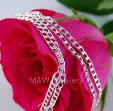Sólido 925 Plata De Ley-Ley Elegante Link * * Cubano Collar de cadena 45 Cm