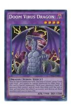 YuGiOh Carta - Doom Virus Dragon drl2-en003 1st Edición Secreta Rara