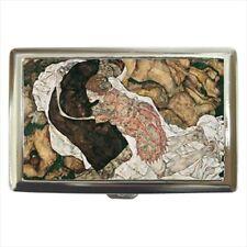 Death And The Maiden Egon Schiele Cigarette Money Case - Painting (Art)