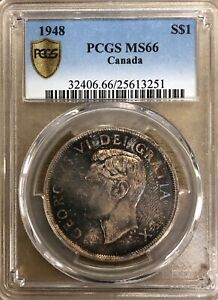 1948 Canada Silver Dollar - PCGS MS66 Superb Rarity - 3 on the census - The BEST