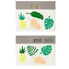 Meri Meri pineapple and palm leaves tattoos