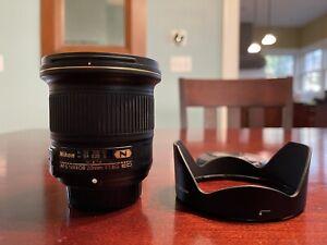 Nikon AF-S NIKKOR 20mm f/1.8G ED Lens - Mint